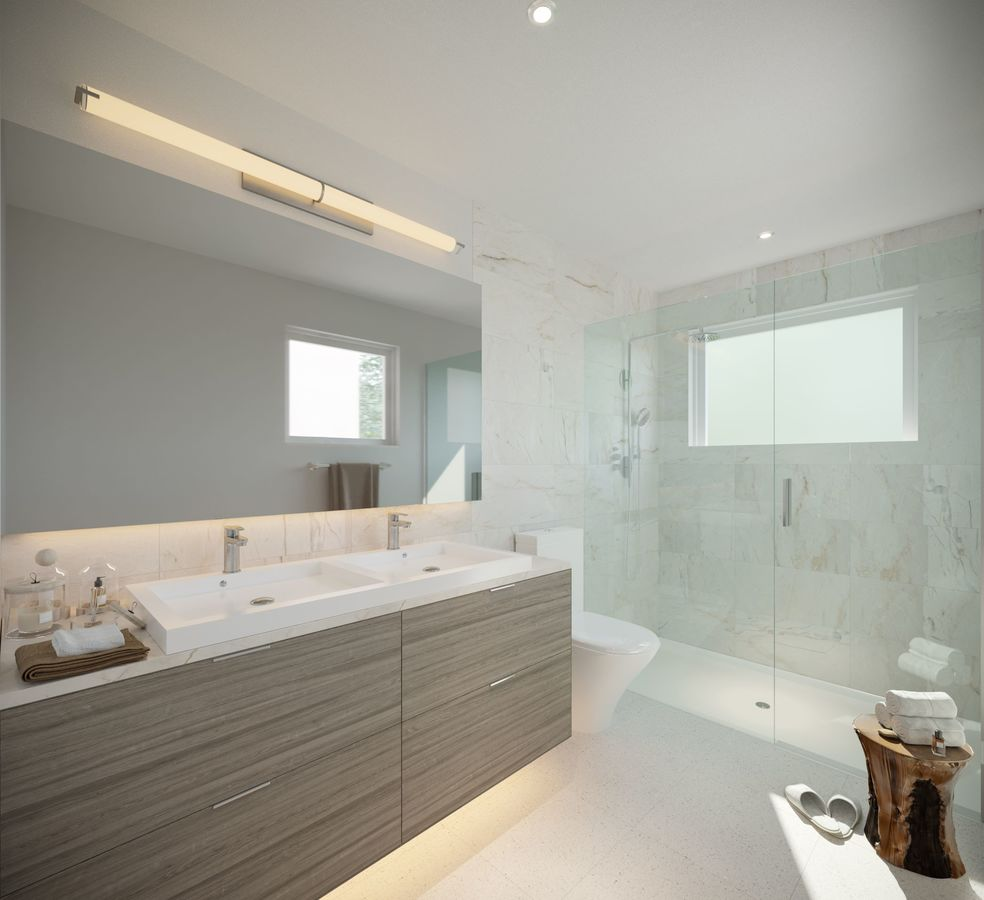 bathroom-rendering-low-res at 3490 Mount Seymour Parkway, Northlands, North Vancouver