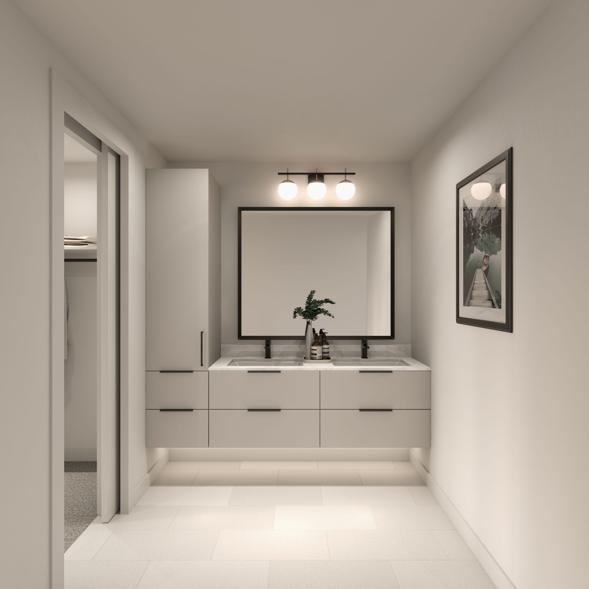 ensuite-grey at 2803 St. George Street, Port Moody Centre, Port Moody