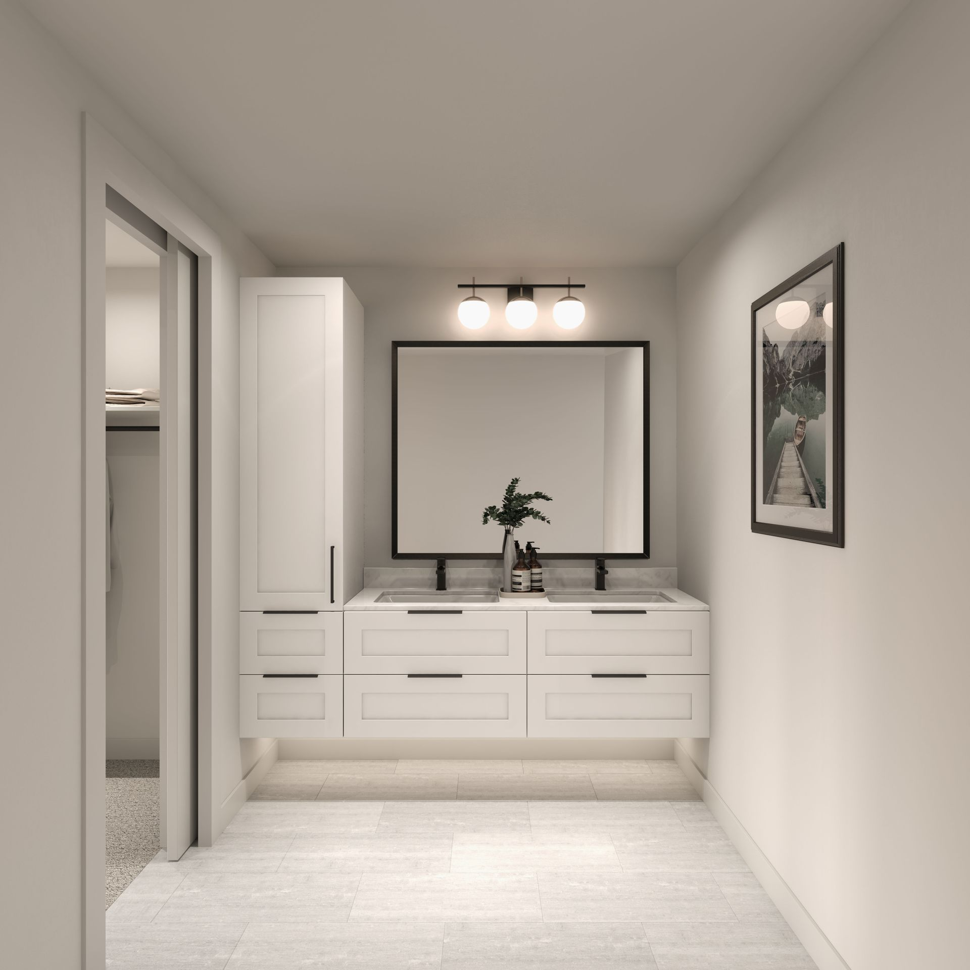 ensuite-white at 2803 St. George Street, Port Moody Centre, Port Moody