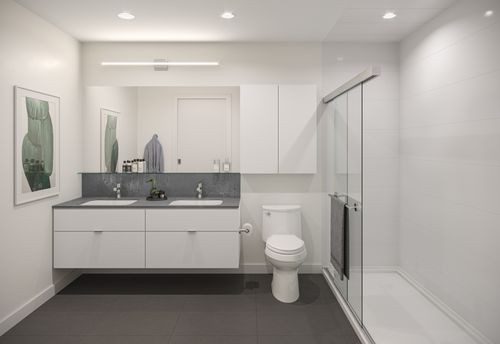 bathroom-rendering-for-two-shaughnessy-colour-combination-1-min at 2428 Shaughnessy Street, Central Pt Coquitlam, Port Coquitlam