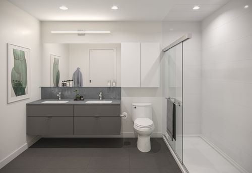 bathroom-rendering-for-two-shaughnessy-colour-combination-4-min at 2428 Shaughnessy Street, Central Pt Coquitlam, Port Coquitlam