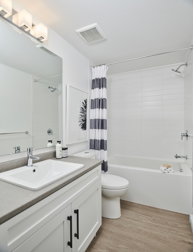 argyle-legal-suite-bathroom at 3486 Highland Drive, Burke Mountain, Coquitlam