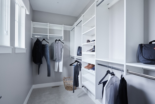 argyle-master-bedroom-walk-in-closet at 3486 Highland Drive, Burke Mountain, Coquitlam