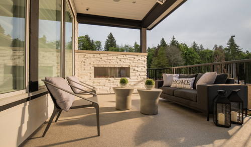 Pacific at McNally Creek - Patio at 16232 10 Avenue, King George Corridor, South Surrey White Rock