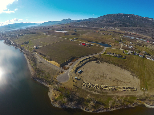 reflection-point-aerial-view-mountain-land-water at 8401 120 Avenue, Osoyoos