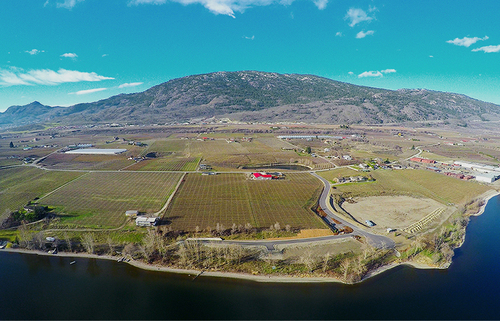 reflection-point-aerial-view-mountain-water-sky at 8401 120 Avenue, Osoyoos