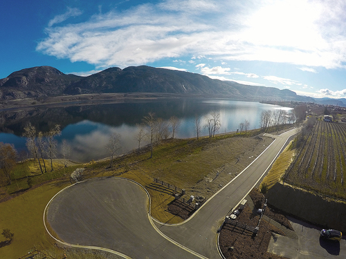 reflection-point-aerial-view-road at 8401 120 Avenue, Osoyoos