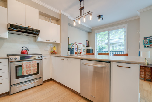 Spacious Kitchen with Stainless Appliances at 78 - 100 Klahanie Drive, Port Moody Centre, Port Moody