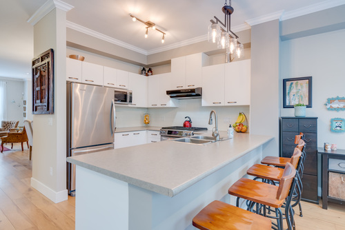 Professionally Painted Cabinetry at 78 - 100 Klahanie Drive, Port Moody Centre, Port Moody