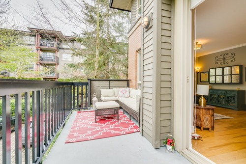 Large, Private Patio at 78 - 100 Klahanie Drive, Port Moody Centre, Port Moody