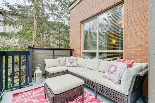 Outdoor Sitting Area at 78 - 100 Klahanie Drive, Port Moody Centre, Port Moody