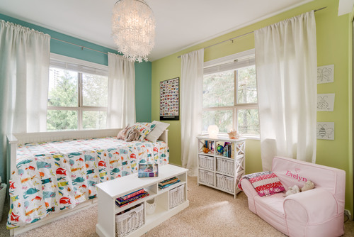 Children's Bedroom with Large Windows at 78 - 100 Klahanie Drive, Port Moody Centre, Port Moody