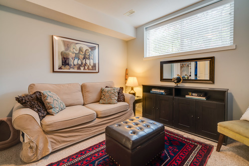 Bedroom 4 downstairs. Could be Office, Gym or Guest Suite at 78 - 100 Klahanie Drive, Port Moody Centre, Port Moody