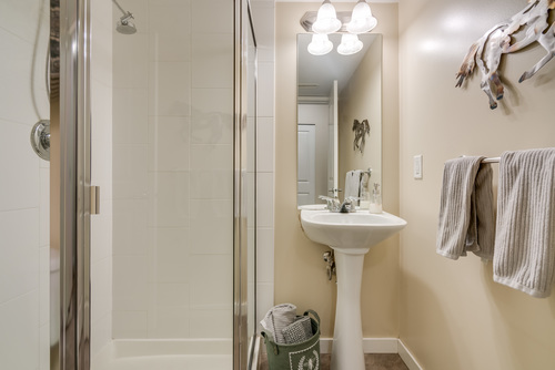 Full Fourth Bathroom Downstairs at 78 - 100 Klahanie Drive, Port Moody Centre, Port Moody