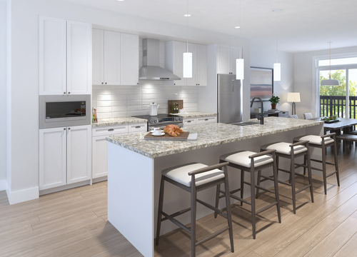 Township Commons - Kitchen at B315 - 20487 65 Avenue, Willoughby Heights, Langley