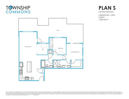 Township Commons - S Floorplan at B315 - 20487 65 Avenue, Willoughby Heights, Langley