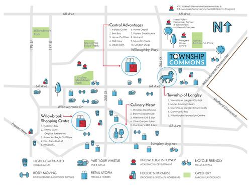 Township Commons - Amenity Map at B315 - 20487 65 Avenue, Willoughby Heights, Langley