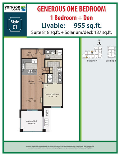 c1-floorplan at A411 - 20716 Willoughby Town Centre, Willoughby Heights, Langley