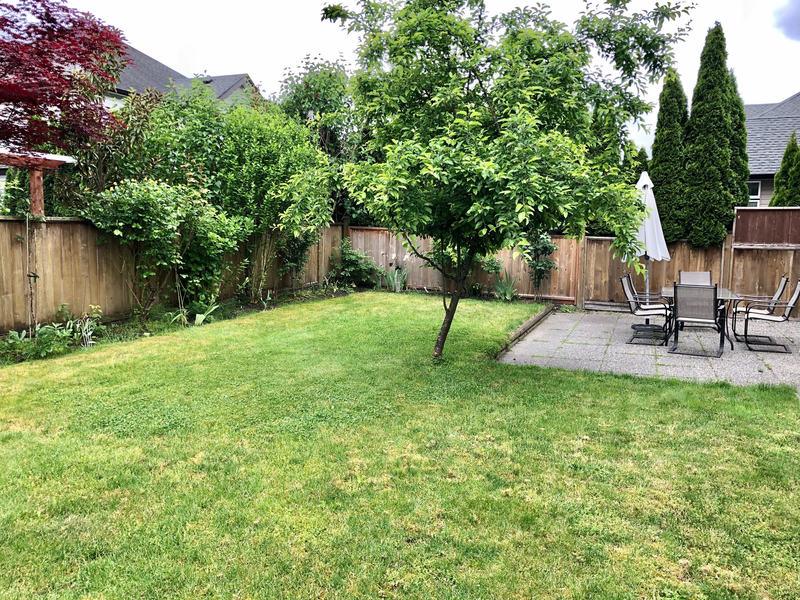 backyard at 19438 Thorburn Way, South Meadows, Pitt Meadows