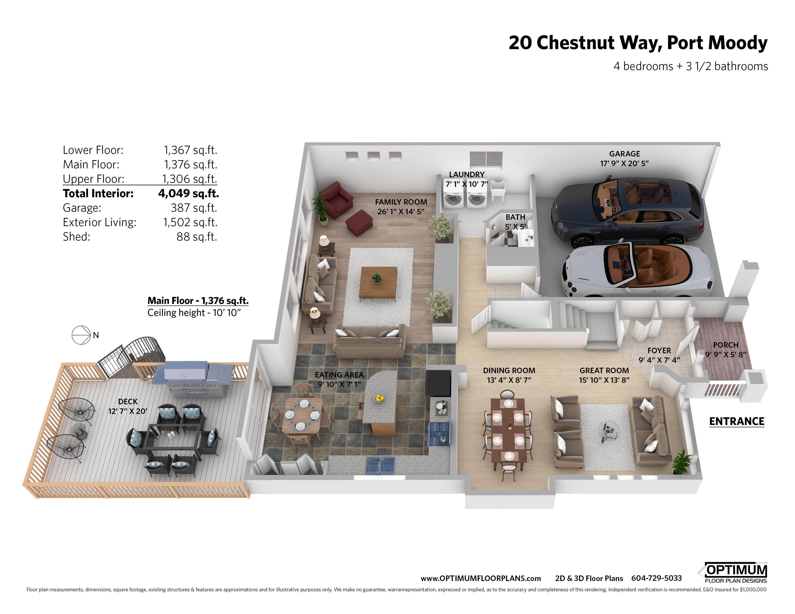2D & 3D Floorplans
