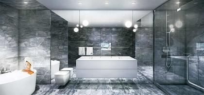 Vancouver House Bath At 1480 Howe Street, Yaletown, Vancouver West