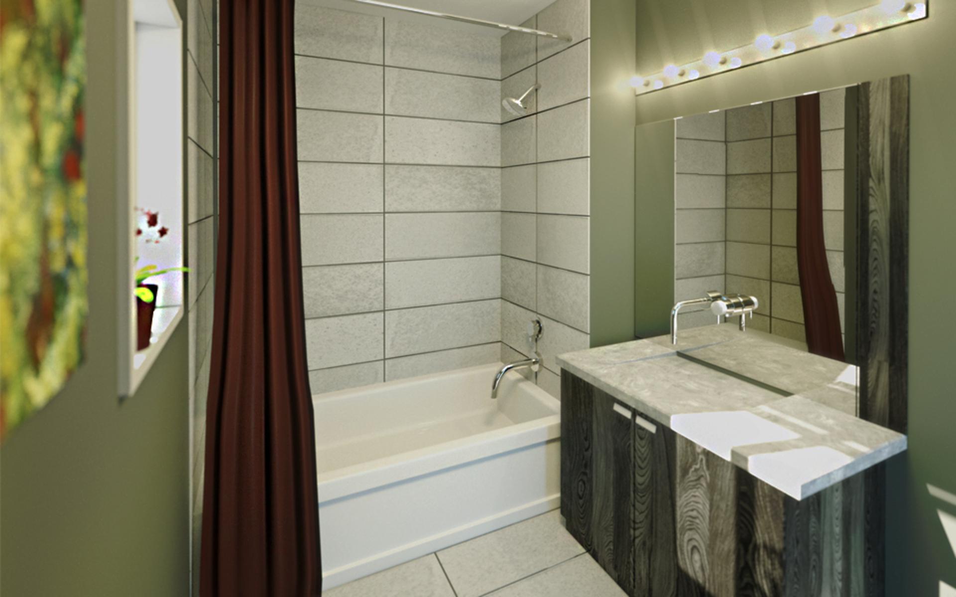 kensington-point-bathroom at Kensington Point (3939 Knight Street, Knight, Vancouver East)