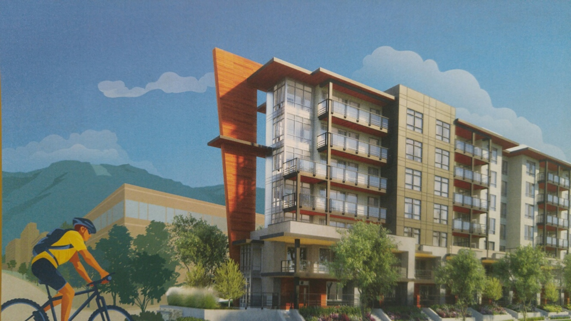 crest-rendering at Crest (150 East 8th Street, Lower Lonsdale, North Vancouver)