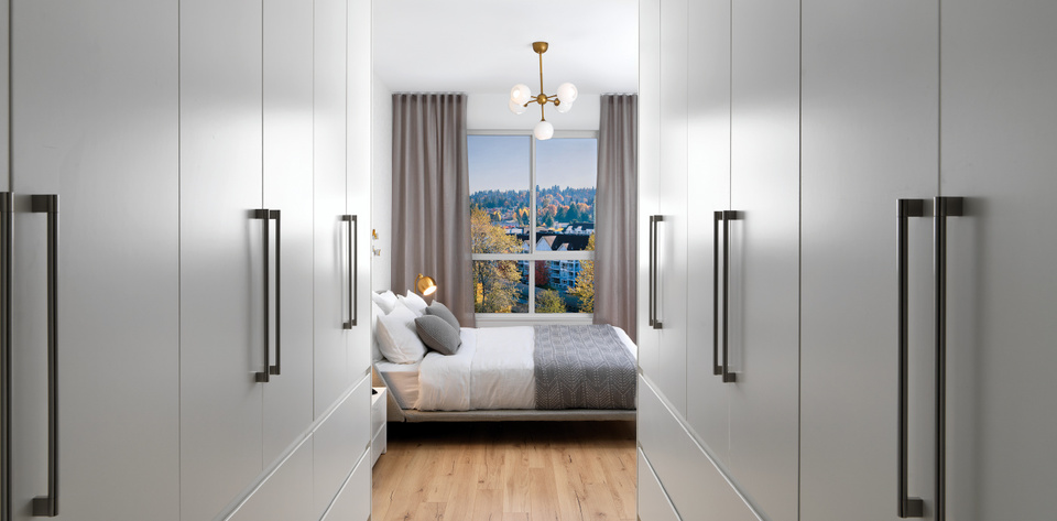 50-electronic-bedroom-and-closets at 50 Electronic Phase 1 and 2 (50 Electronic Avenue, Port Moody Centre, Port Moody)