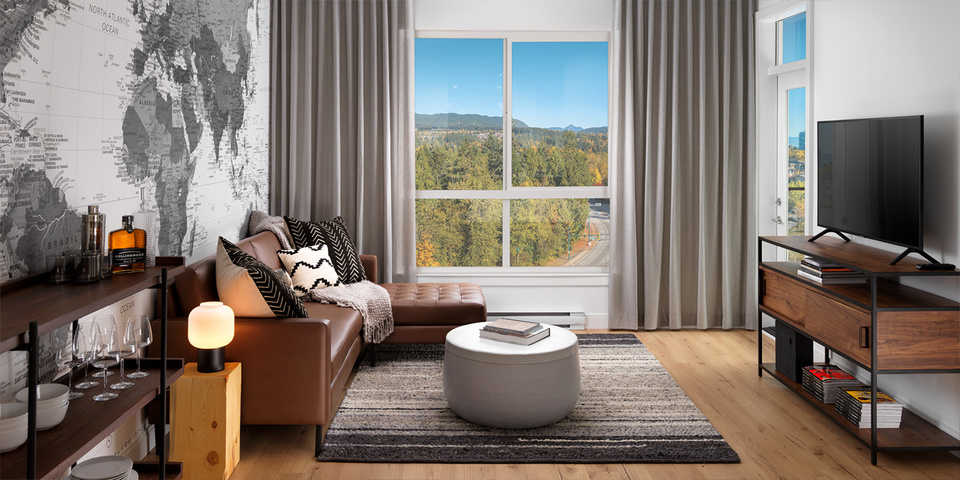50-electronic-living-room at 50 Electronic Phase 1 and 2 (50 Electronic Avenue, Port Moody Centre, Port Moody)