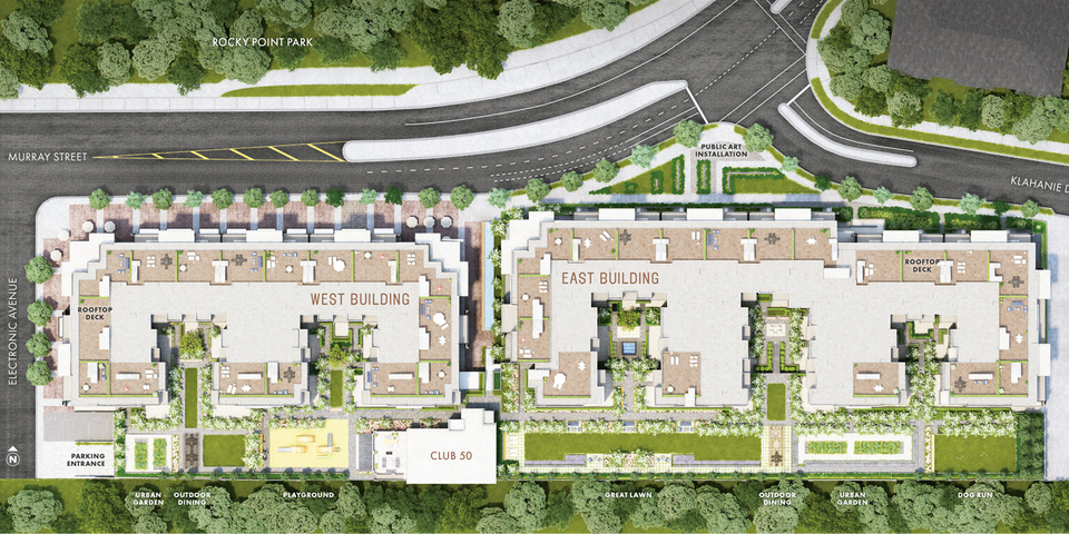 50-electronic-site-plan at 50 Electronic Phase 1 and 2 (50 Electronic Avenue, Port Moody Centre, Port Moody)