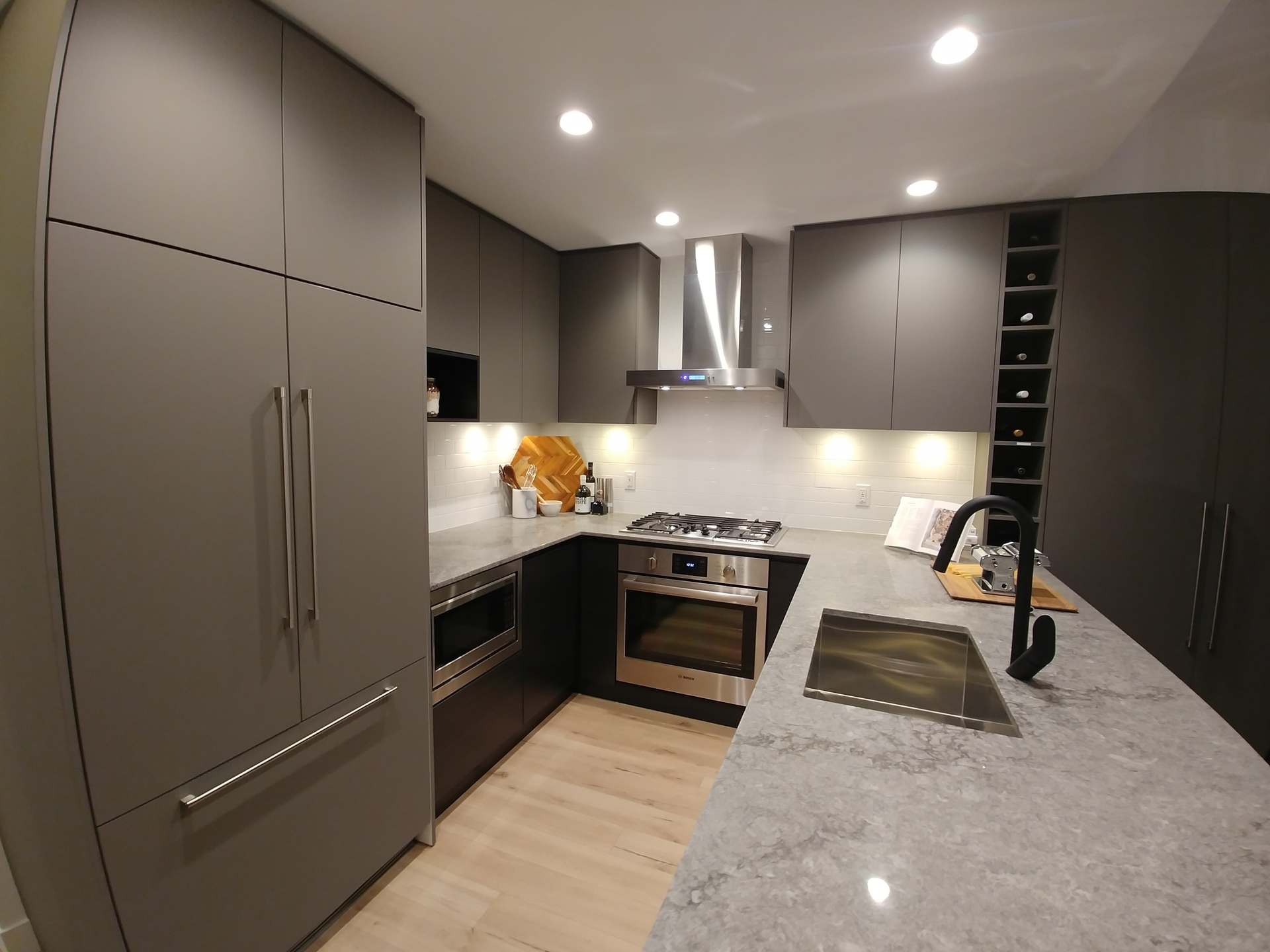 50-electronic-kitchen-dark-colour-scheme at 50 Electronic Phase 1 and 2 (50 Electronic Avenue, Port Moody Centre, Port Moody)