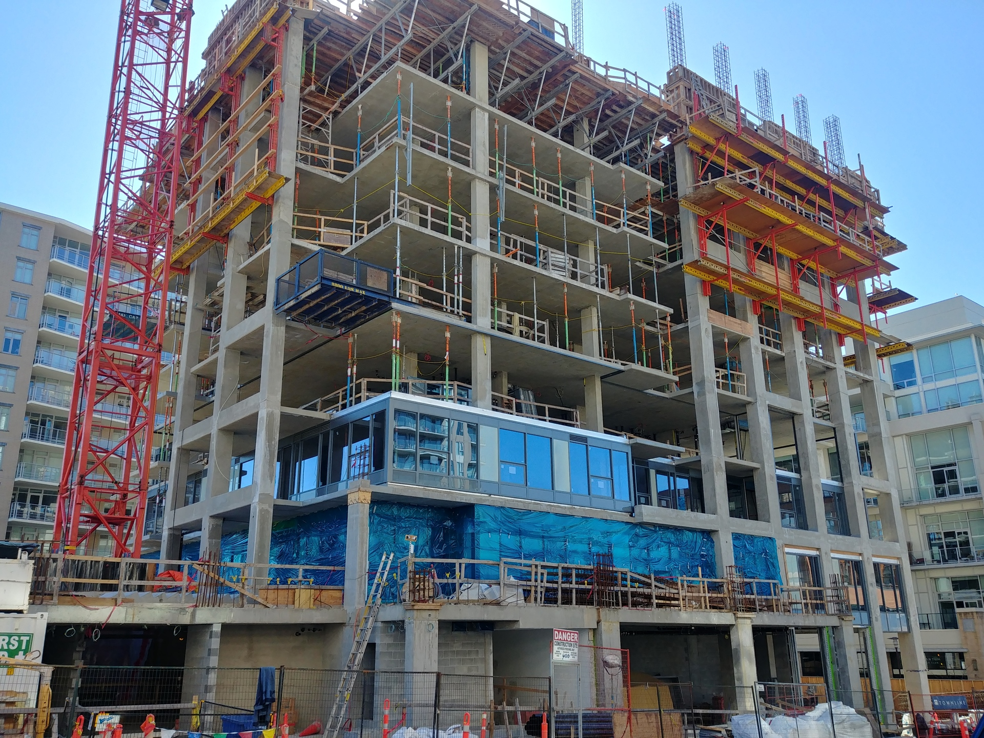 Hudson Place One- construction progress- March 2019 at Hudson Place One (777 Herald Street, Downtown and Harris Green, Victoria)
