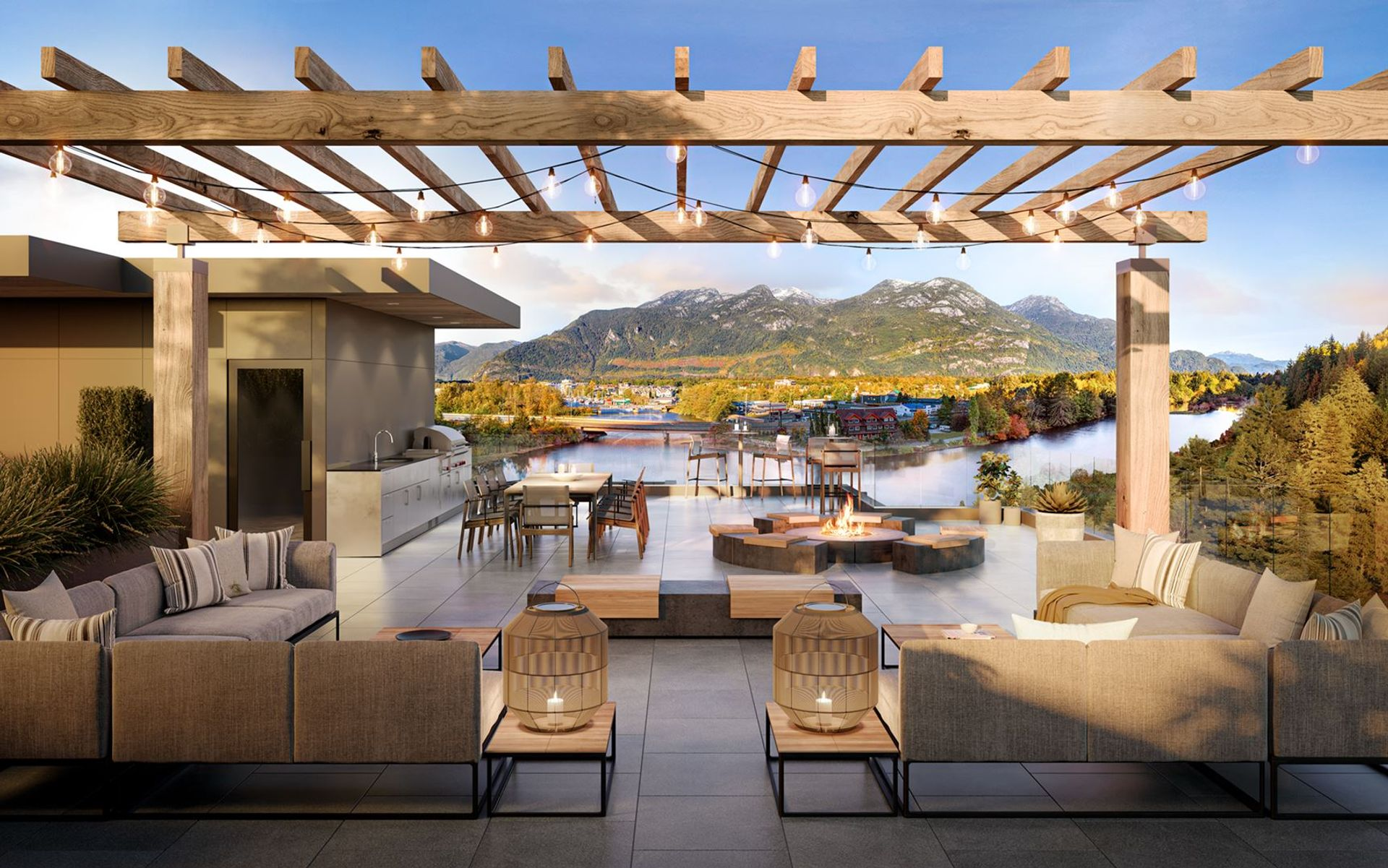 redbridge-sunset-terrace-rendering at Redbridge (1500 Scott Crescent, Squamish)