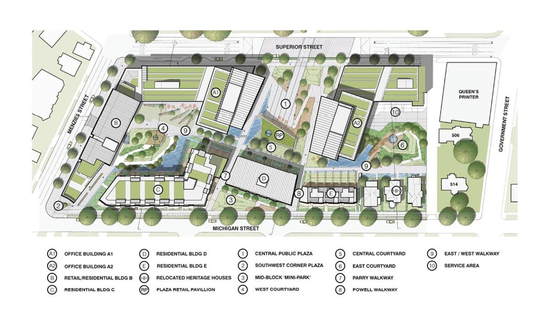 capitol-park-site-plan at Capital Park (355 Menzies Street, James Bay, Victoria)