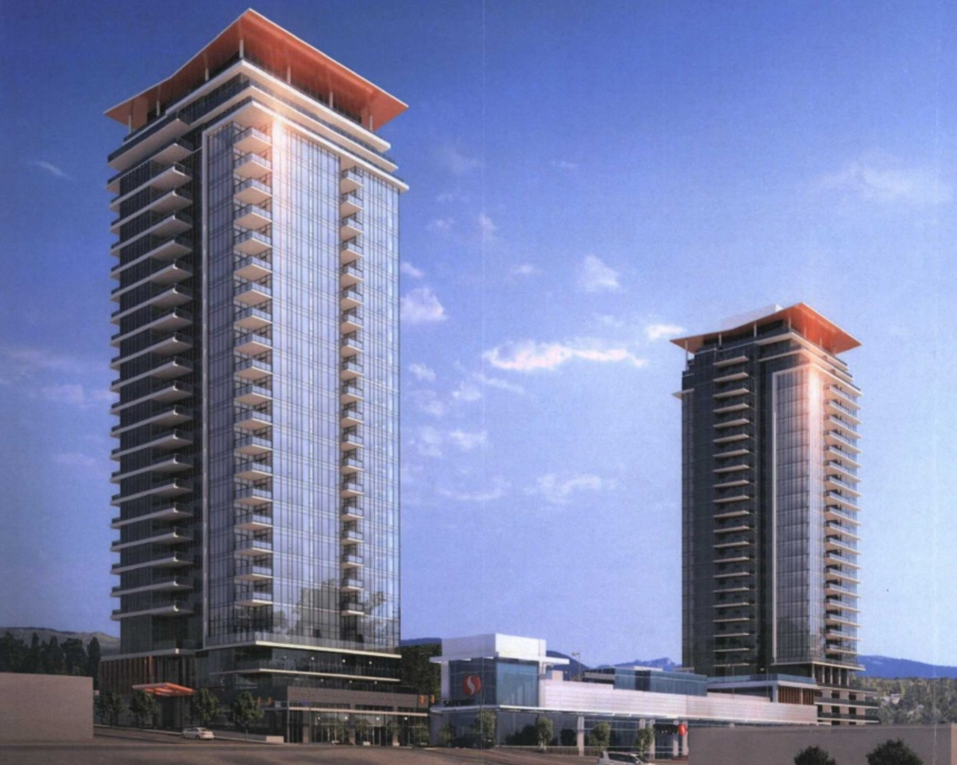 1029-1033 Austin Avenue, Coquitlam- Tower rendering 1 at West at The Heights on Austin (1029 Austin Avenue, Coquitlam West, Coquitlam)