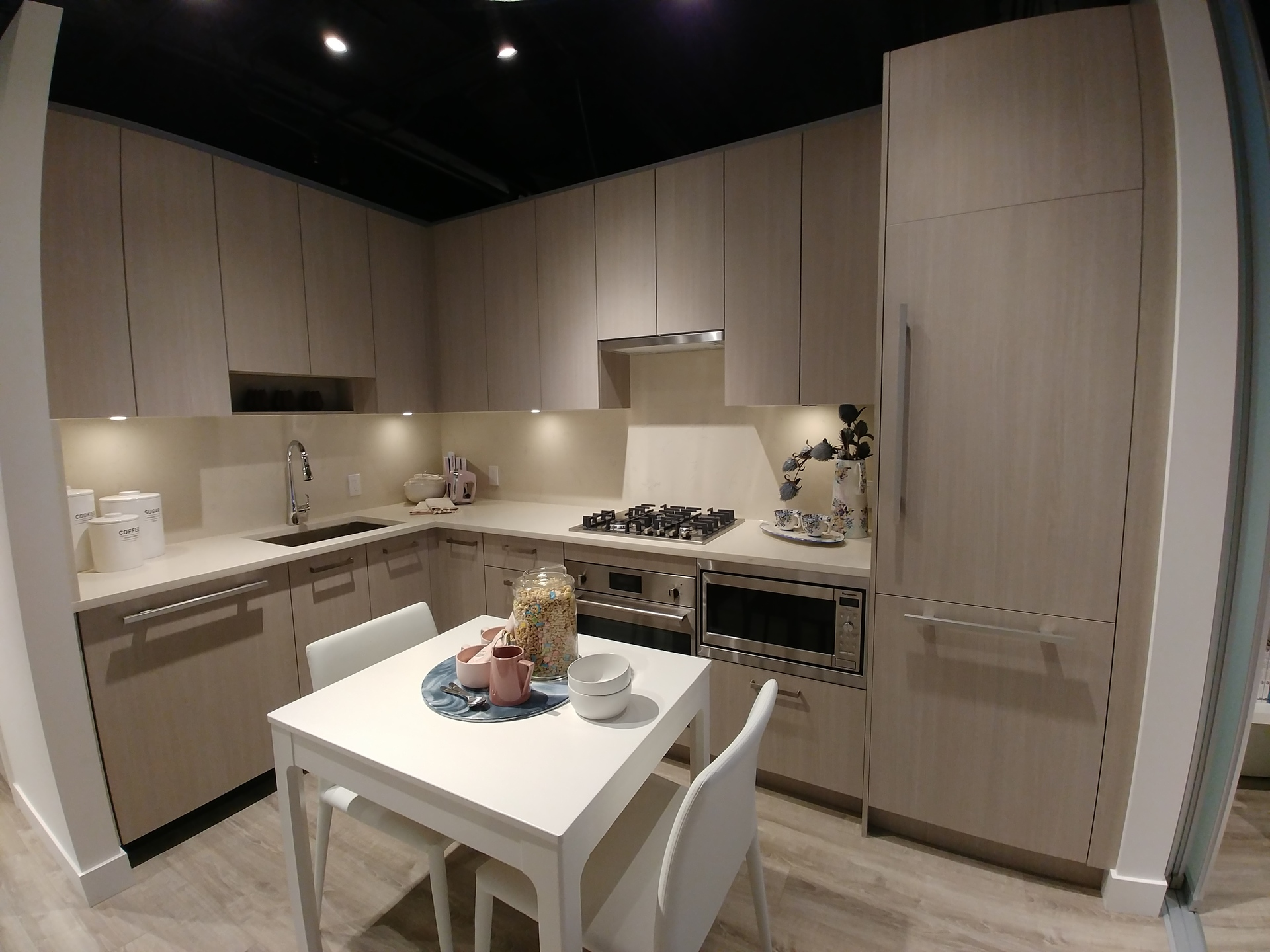 one-central-e1-plan-kitchen at One Central (10297 133a Street, Whalley, North Surrey)