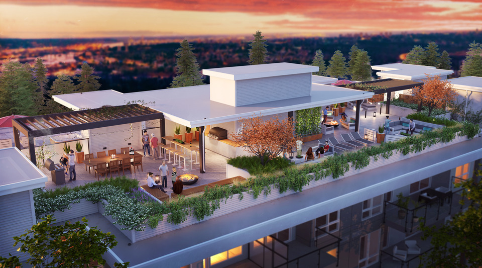 duet-rooftop-terrace at Duet (704 Lea Avenue, Coquitlam West, Coquitlam)