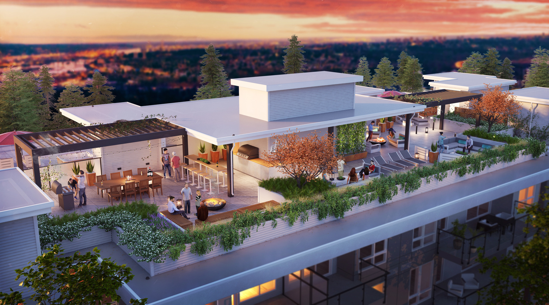 duet-rooftop-terrace at Duet (707 Como Lake Avenue, Coquitlam West, Coquitlam)