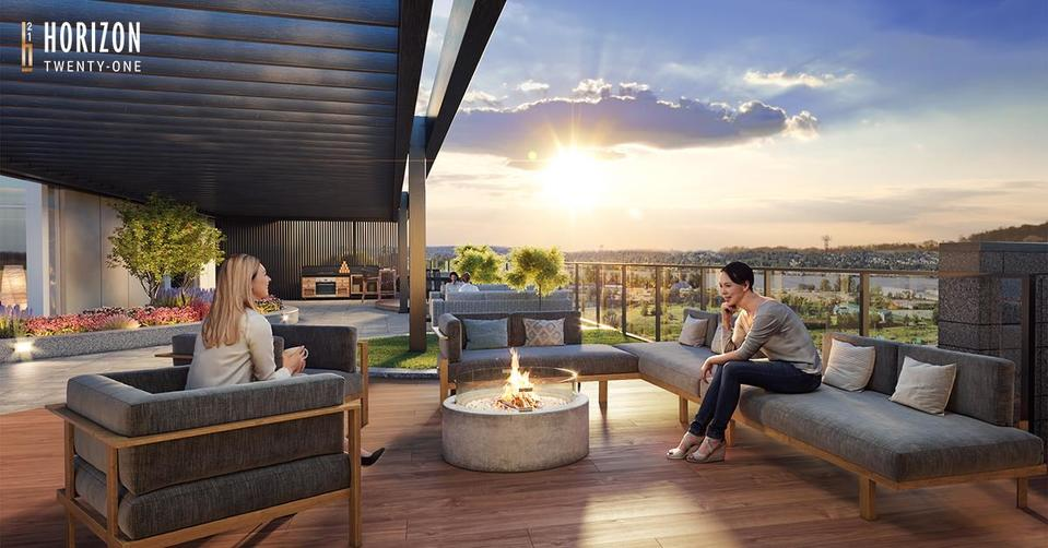 horizon-21-fireplace-lounge at Horizon 21 (218 Blue Mountain, Maillardville, Coquitlam)
