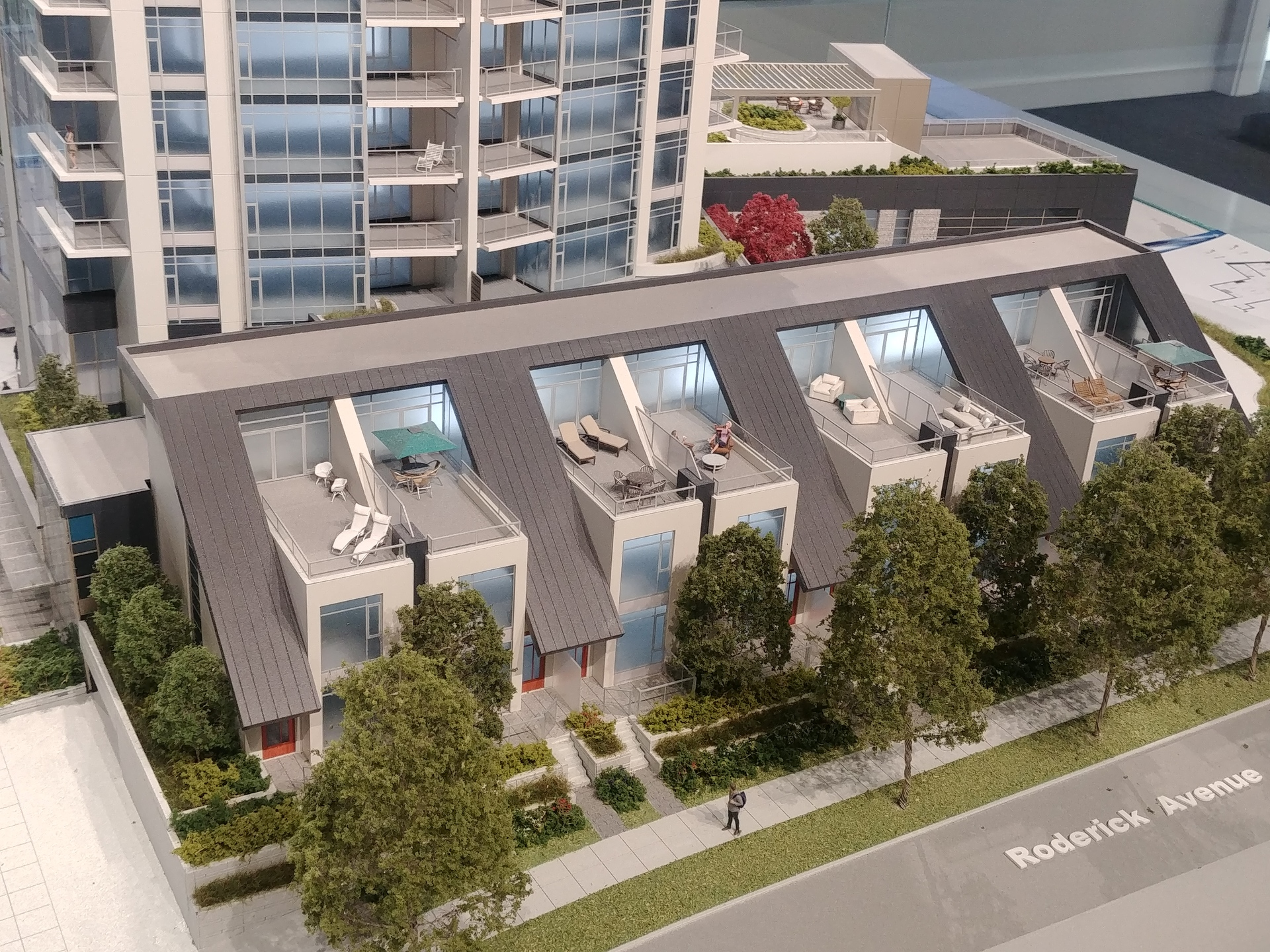 h21-3-storey-townhomes-north-facade-showing-private-roof-terrace at Horizon 21 (218 Blue Mountain, Maillardville, Coquitlam)