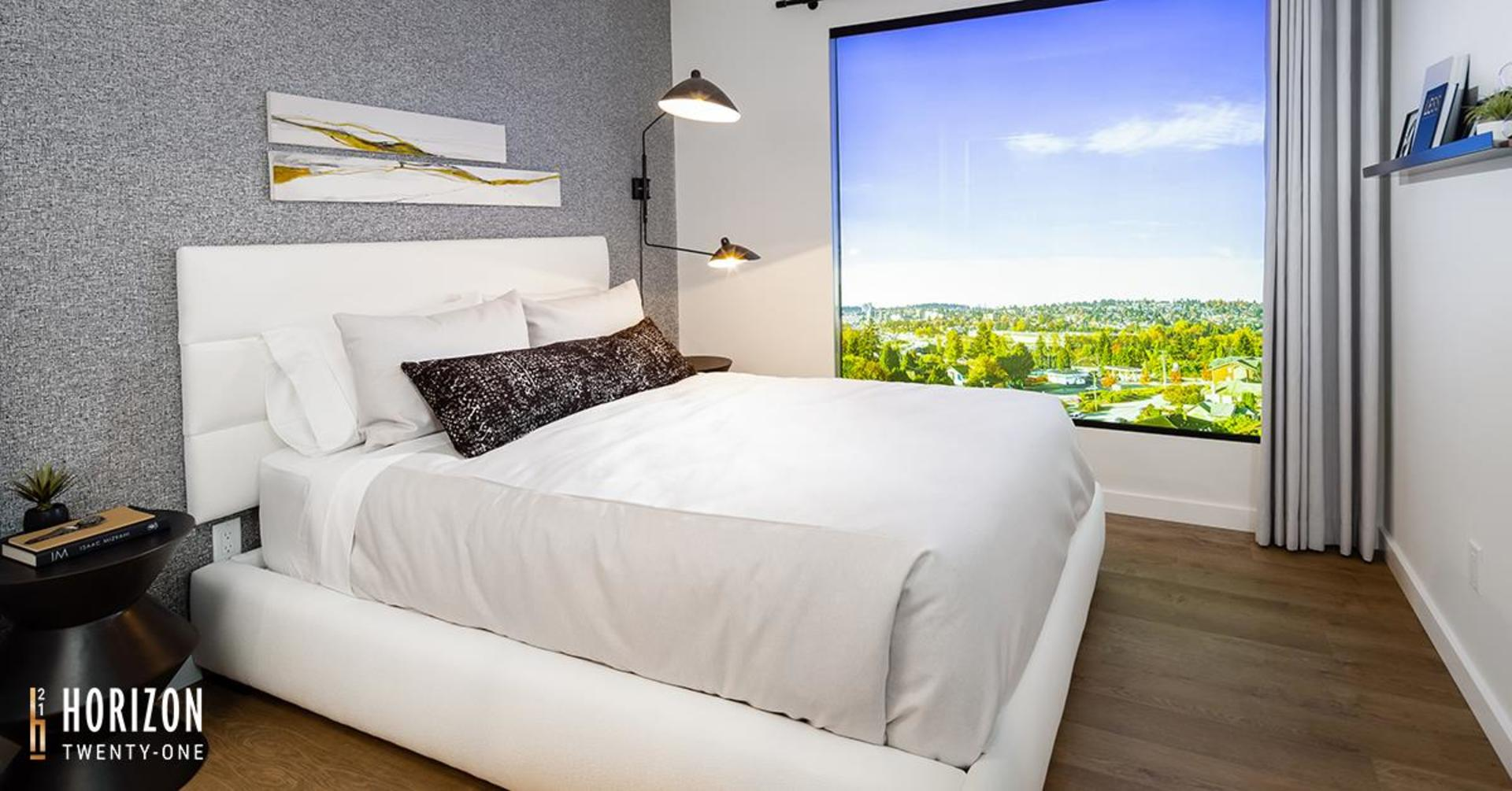 horizon-21-bedroom at Horizon 21 (218 Blue Mountain, Maillardville, Coquitlam)