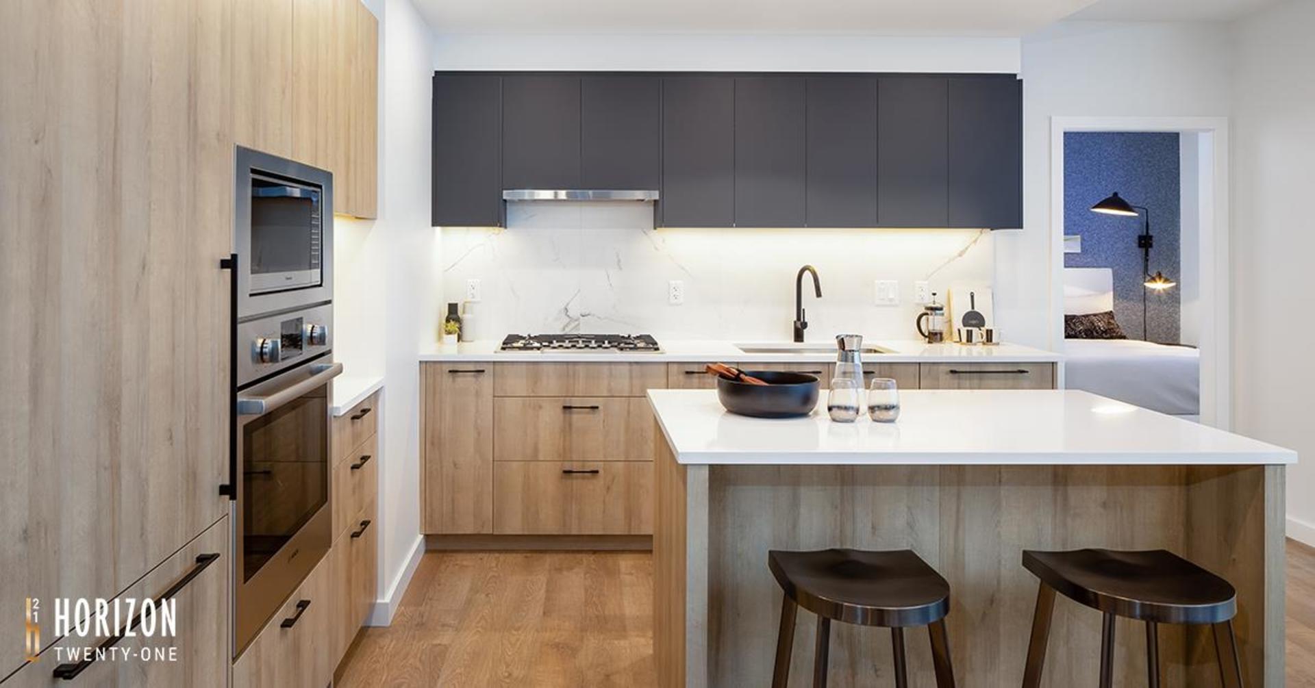 horizon-21-kitchen at Horizon 21 (218 Blue Mountain, Maillardville, Coquitlam)