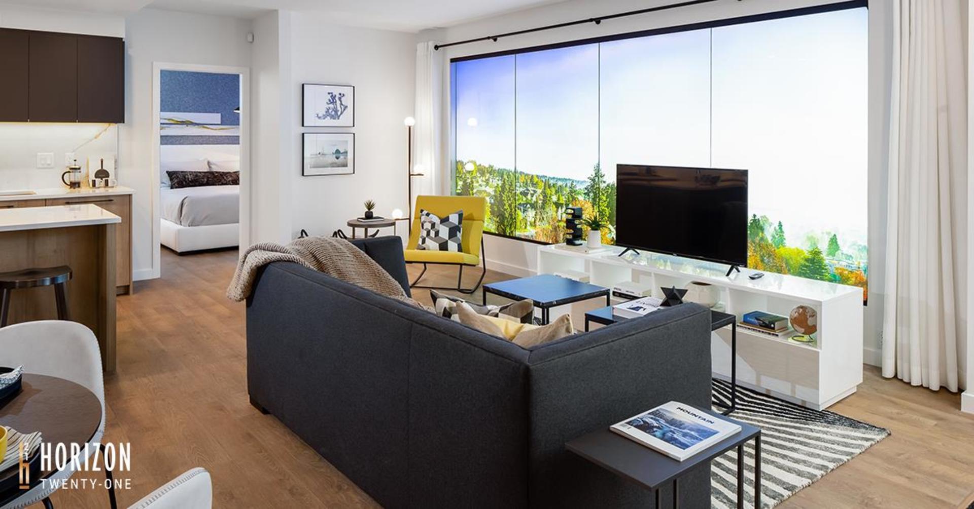 horizon-21-living-room at Horizon 21 (218 Blue Mountain, Maillardville, Coquitlam)