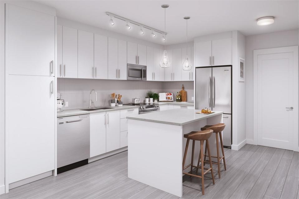 gala-kitchen at Gala at Parc Central (20356 72b Avenue, Willoughby Heights, Langley)