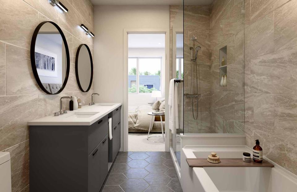 Skagen Townhomes - Bathroom at Skagen townhomes (606 Foster Avenue, Coquitlam West, Coquitlam)