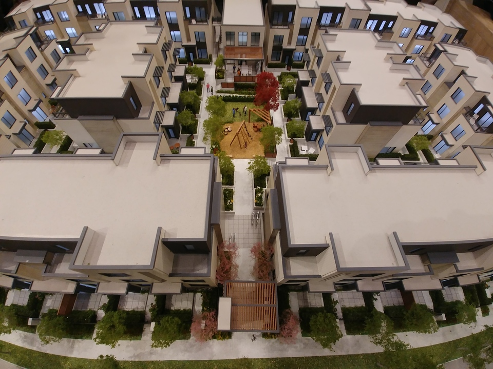 skagen-aerial at Skagen townhomes (606 Foster Avenue, Coquitlam West, Coquitlam)