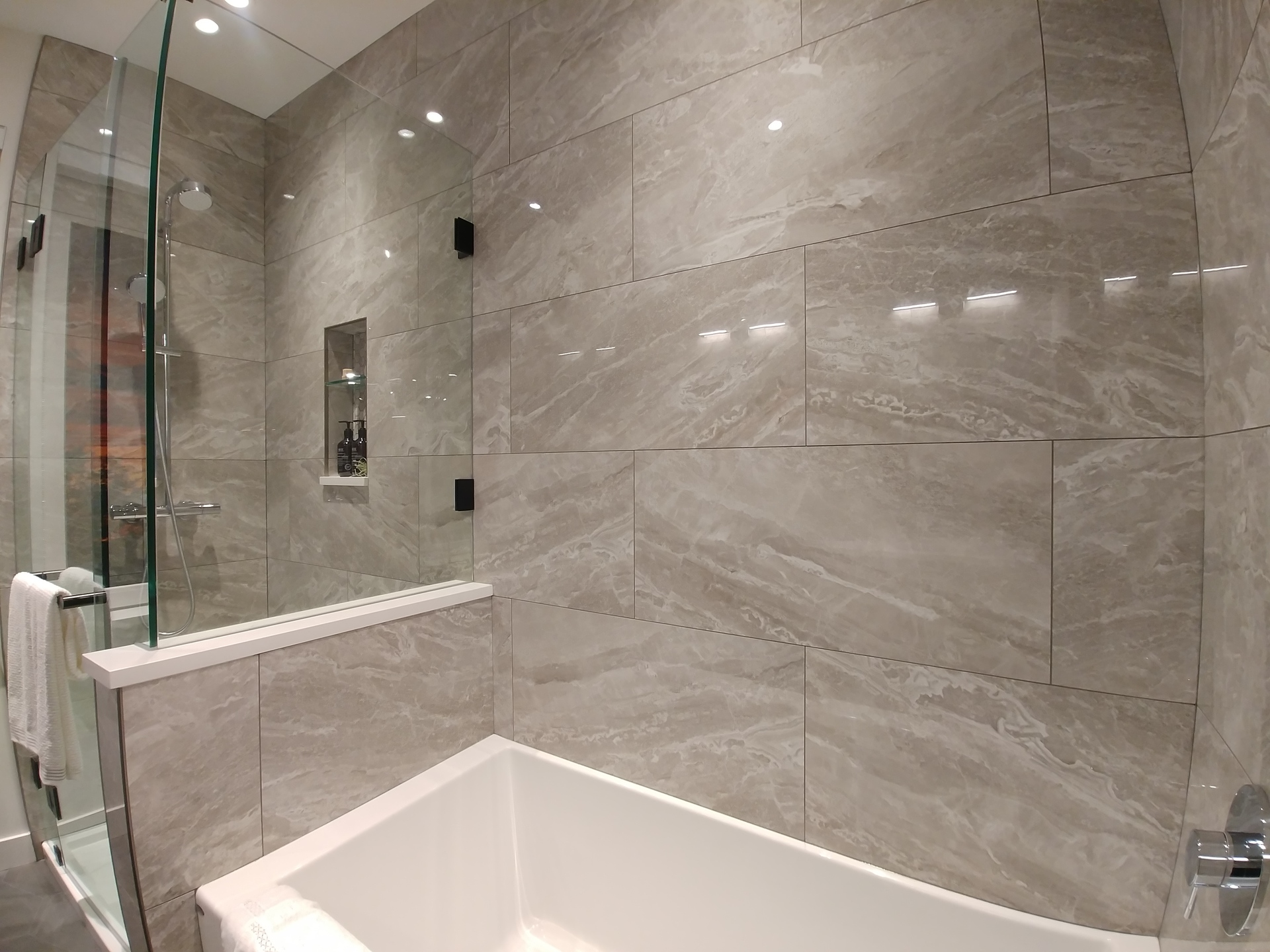skagen-master-bath-shower at Skagen townhomes (606 Foster Avenue, Coquitlam West, Coquitlam)