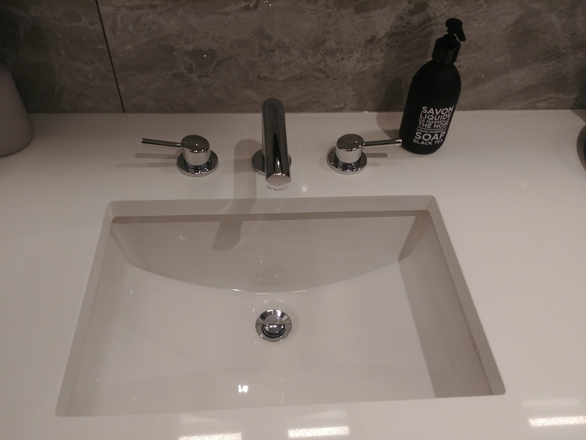 skagen-undermount-bathroom-sink-with-grohe-faucet at Skagen townhomes (606 Foster Avenue, Coquitlam West, Coquitlam)