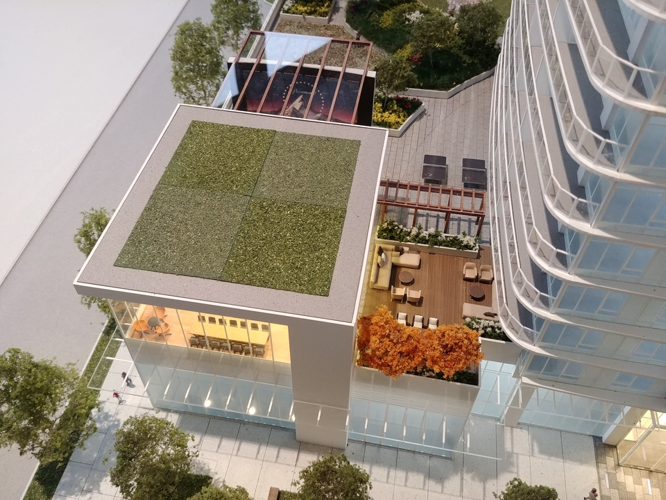 georgetown-one-amenity-with-outdoor-theatre-and-patio at Georgetown (13645 102 Avenue, Surrey Central (Central City), North Surrey)