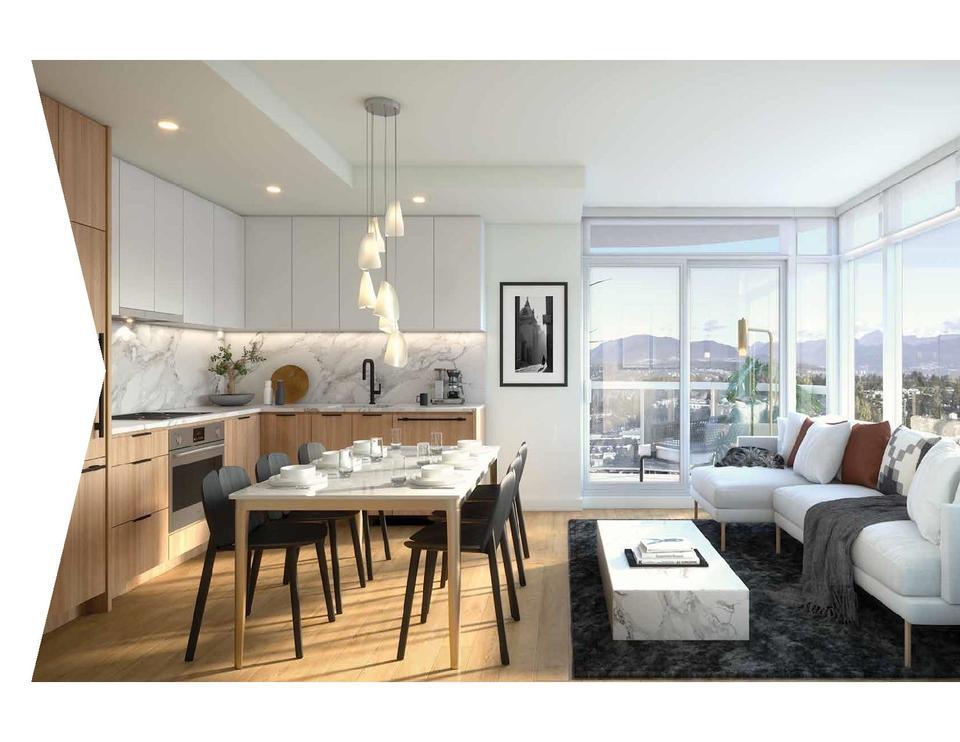 georgetown-one-kitchen-rendering-jpg at Georgetown (13645 102 Avenue, Surrey Central (Central City), North Surrey)